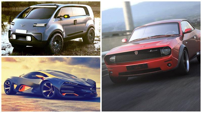Как могли бы выглядеть российские автомобили: крутые концепты