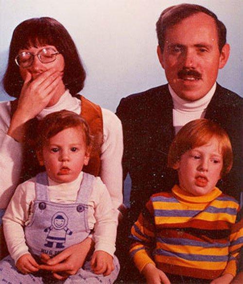 Реальное семейное фото