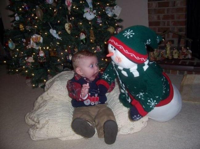 20 забавных фото, в которых весь дух новогодних праздников (20 фото)