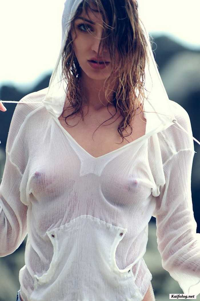 Sexy Girl Translucent Blouse Without Underwear Laidhub 1